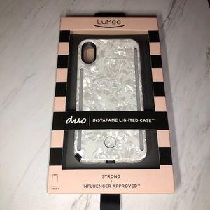 LuMee White Pearl iPhone X Case